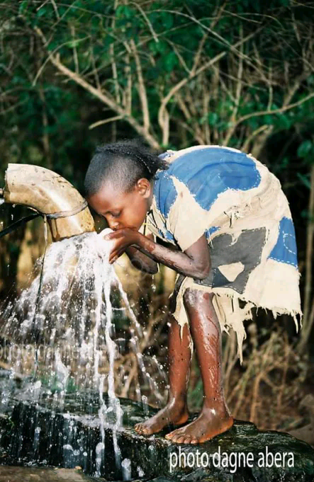 33 percent of Ethiopia's population do not have access to clean water